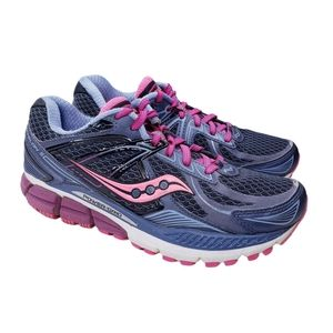 Saucony Echelon 5 Running Shoes Gray Pink Size 7.5